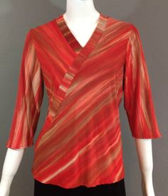 Hand dyed Red Bamboo knit shirts for women. Shibori dyed, a great summer weight found on Etsy. Color Blending, Knit Shirt, Shibori, Bamboo, Silk, Knitting, Clothing, Fabric, Summer