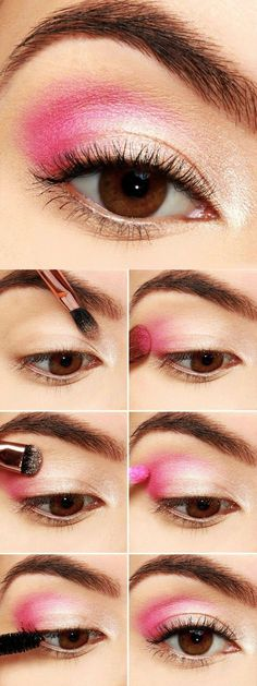 Tutorial de maquillaje de ojos de color rosa palo