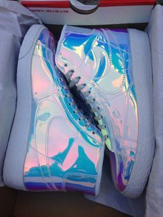 Nike Blazer Iridescent 11 Silver Multi-Color Qs Wmns Liquid Gold Air Max 1 rare in Athletic High Top Sneakers, Nike Sneakers, Sneakers Fashion, Fashion Shoes, Nike Trainers, Adidas Shoes, Kids Fashion, Top Shoes, Cute Shoes