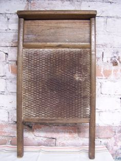Primitive Tin, Wooden Washboard, Very Old, Farmhouse Kitchen, Country, Prairie…
