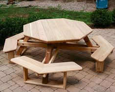 Traditional Backyard Octagon Picnic Table Furniture Plans That elegant design fashion, which generates warm and Pallet Garden Furniture, Diy Outdoor Furniture, Plywood Furniture, Diy Furniture, Furniture Design, Origami Furniture, Camping Furniture, Furniture Buyers, Farmhouse Furniture