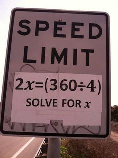 So if I saw a speed limit sign like this...I would totally stop by the side of the road and laugh!!! Awesome!!!!