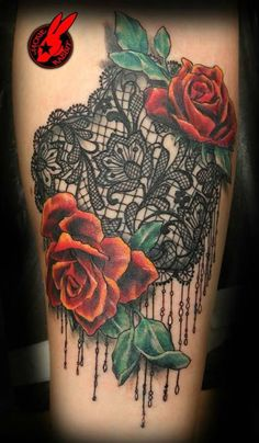 37 Modèles tatouage femme dentelle - 30