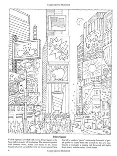 New York For Kids 25 Big Apple Sites To Color Dover Coloring Books