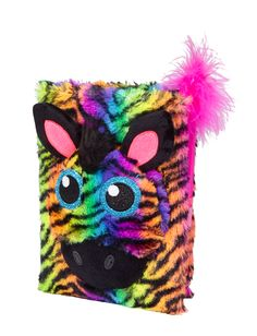 Faux Fur Zebra Journal | Journals & Writing | Room, Tech & Toys | Shop Justice