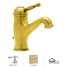 View the Rohl AY51LM-2 Cisal Bathroom Faucet with Classic Metal Lever and Pop-Up Drain at FaucetDirect.com.