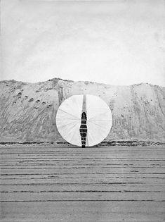 Rebecca Horn: Weißer Körperfächer, 1972