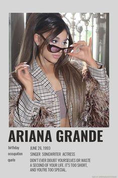 Ariana Grande Poster, Ariana Grande Album, Ariana Grande Cute, Ariana Grande Photoshoot, Ariana Grande Wallpaper, Ariana Grande Pictures, Ariana Grande Birthday, Image Cinema, Dangerous Woman