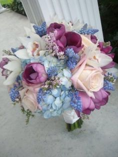 Spring Bridal Bouquet by ABridalConnection on Etsy, $149.00