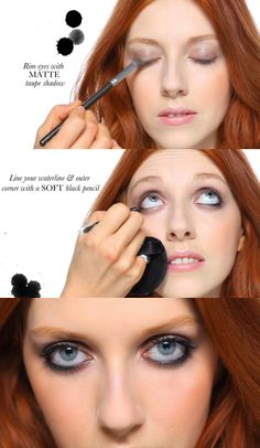 "How to get a flawless grunge makeup look! (I like the makeup, but I also love the oxymoron of ""flawless grunge."")"