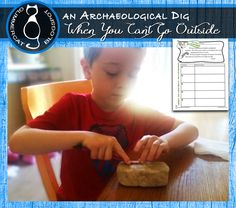 """An Archaeological """"Dig"""" Activity for classroom teachers, complete with link to an Archaeology Freebie packet."""
