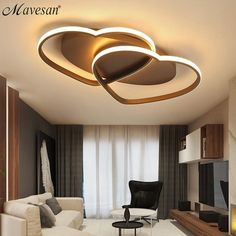 Brand Name: MavesanIs Bulbs Included: YesBase Type: WedgeSwitch Type: Remote ControlStyle: ModernLight Source: LED BulbsShade Direction: DownCertification: CQCIs Dimmable: YesBody Material: AluminumFeatures: Acrylic dome lightWarranty: 2 yearsShade Type: ShadelessVoltage: 90-260VPower Source: ACFinish: Polished ChromeInstallation Type: Flush MountModel Number: MSY130 House Ceiling Design, Ceiling Design Living Room, Bedroom False Ceiling Design, Living Room Lighting, Modern Led Ceiling Lights, Led Pendant Lights, Led Chandelier, Modern Lighting, Restaurant Bad