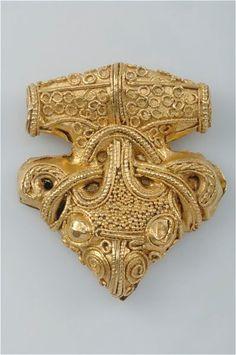 Viking Pendant. Gold, filigree ornamentation, Sigtuna, Uppland, Sweden.