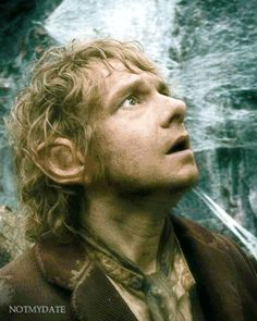 Bilbo's mannerism are half the reason i love the Hobbit so much. (gif)