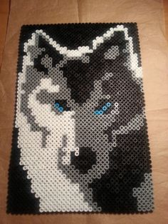 Wolf perler beads by Piazobel100