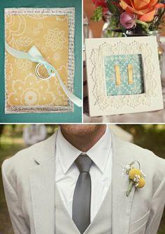 Groom- Grey pinstripe suit  Craspedias \u2665