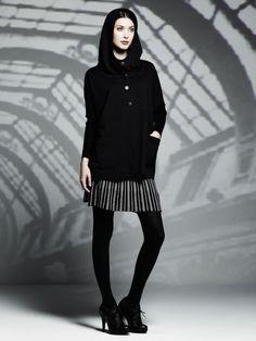 Catherine Malandrino's Kohl's Collaboration: Oversized Hooded Jacket ($78), Sweater Skirt ($54) (Photo courtesy of Kohl's: Sept 2013)