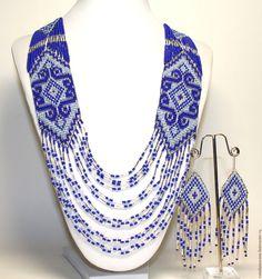"""Купить Гердан """"Зима"""" - комбинированный, синий цвет, блестящее украшение, оригинальный подарок, оригинальное украшение"""