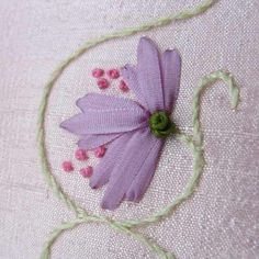 Ribbon Embroidery Flower.
