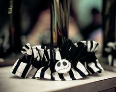 jack skellington garter   Steph we have a friend that can make garters she did mine so we can customize
