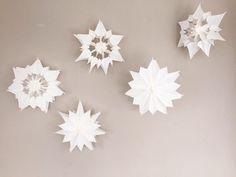 Sterne aus Butterbrottüten *gepimpt