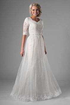 Beautiful Wedding Dresses Lace and Designer Wedding Dresses Game. Plus Wedding Dresses, How To Dress For A Wedding, Western Wedding Dresses, Princess Wedding Dresses, Plus Size Wedding, Designer Wedding Dresses, Bridal Dresses, Bridesmaid Dresses, Modest Dresses