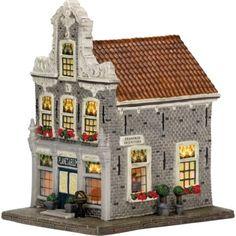 Lemax Christmas Village, Lemax Village, Villas, Seaside Village, Ceramic Houses, Christmas Crafts, Mansions, Park, House Styles