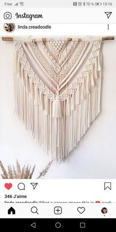 Macrame Design, Macrame Art, Macrame Projects, Macrame Knots, Macrame Jewelry, Macrame Wall Hanging Patterns, Macrame Patterns, Tapestry, Crochet