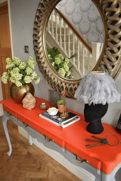 Hallway Renovation: Before and After - Caradise Hallway Console Table Entryway Console Table, Entrance Table, Entrance Decor, Entrance Design, House Entrance, Console Tables, Design Entrée, Flur Design, Best Flooring