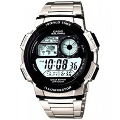 Buy the Casio Digital Sports Watch for Men and more quality Fishing, Hunting and Outdoor gear at Bass Pro Shops. Sport Watches, Cool Watches, Watches For Men, Casio Vintage, Mens Digital Watches, Watch Model, Casio Watch, Ebay, Stainless Steel