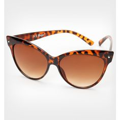 Tortoise Contessa Sunglasses found on Polyvore