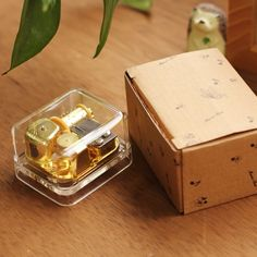 Newest Music Box Exquisite Circle Gold Transparent Wind Up Music Box Gift Castle In The Sky Happy Birthday Caixa De Musica