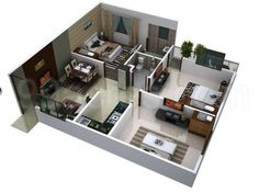 Flat of house with marble floor