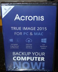 NIB! Acronis True Image 2015 For PC & Mac - 5 Devices - http://electronics.goshoppins.com/software/nib-acronis-true-image-2015-for-pc-mac-5-devices-2/
