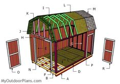 step by step diy project is about gambrel shed roof plans. This is PA. step by step diy project is about gambrel shed roof plans. This is PA. How to build a lean to shed 10x10 Shed Plans, Shed House Plans, Wood Shed Plans, Free Shed Plans, Shed Building Plans, Storage Shed Plans, Shed With Loft, Shed With Porch, Run In Shed