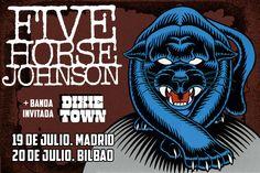 FIVE HORSE JOHNSON. Blues-rock-stoner polvoriento en julio en Madrid y Bilbao