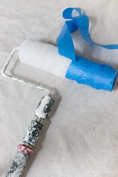 Such an awesome tip for keeping roller lint from getting into your newly painted walls!