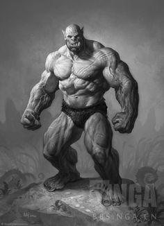 Ogre d&d ArtStation - The Art of Warcraft Film - Orcs, Wei Wang Warcraft Film, Art Warcraft, World Of Warcraft Orc, Fantasy Monster, Monster Art, Fantasy Races, Fantasy Art, Character Concept, Character Art