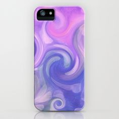 purple swirl iPhone Case by Sylvia Cook Photography - $35.00