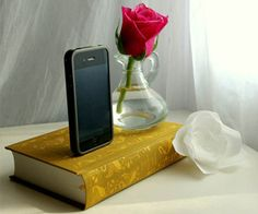 Classic Novel iPhone Docks-totally need this on my nightstand.