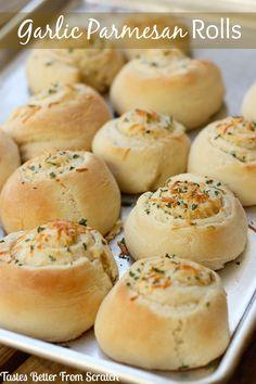 Garlic-Parmesan Rolls on MyRecipeMagic.com