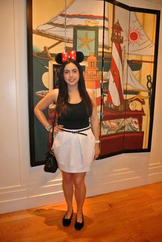 Lisa's Beauty Corner : DisneyWorld Look 1: Black and White outfit
