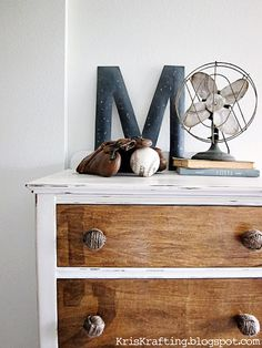 Twine knot knobs, distressed