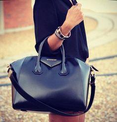 Givenchy Antigona in black shiny calf leather Designer Handbags, Luxury  Handbags, Designer Bags, 72196ab1ab