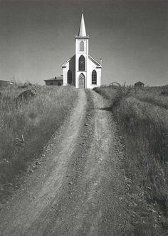 Ansel Adams Church and Road  Bodega, California  c. 1953