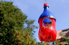 DIY Birdhouse made out of Plastic Pop bottles.