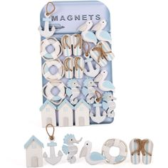 Wholesale Box of 24 nautical magnets - Something Different
