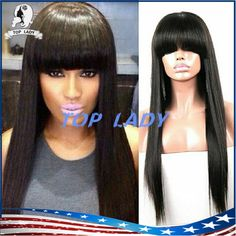 New Arrive Brazilian Virgin Hair Wig Full Lace Human Hair Wigs With Bangs Lace Front Wig Straight Full Lace Wig For Black Woman Full Lace Human Hair Curly Human Hair Full Lace Wigs From Topladyhouse, $105.74| Dhgate.Com