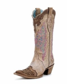 Women's Chocolate Sand Embroidered Lace