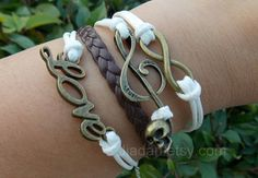 "Check out Punk music bracelets,skull music,love bracelet,infinity,leather bracelets, charm jewelry,white and brown"" Decal @Lockerz http://lockerz.com/d/27255965?ref=gabriel.iordache2396"